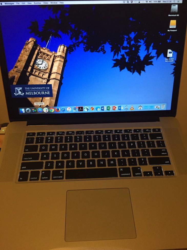Giorgio's new MacBook Pro